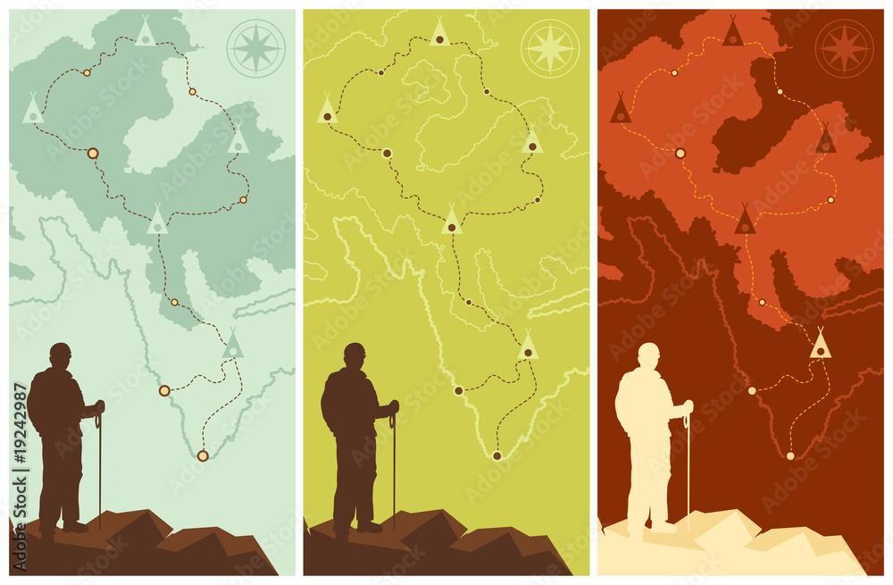 Fototapety, obrazy: trekking set