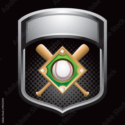 baseball diamond silver display Poster