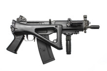 An Assault Rifle With A Folding Stock.