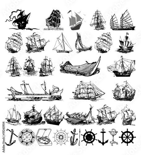 ship logo desing Fototapete