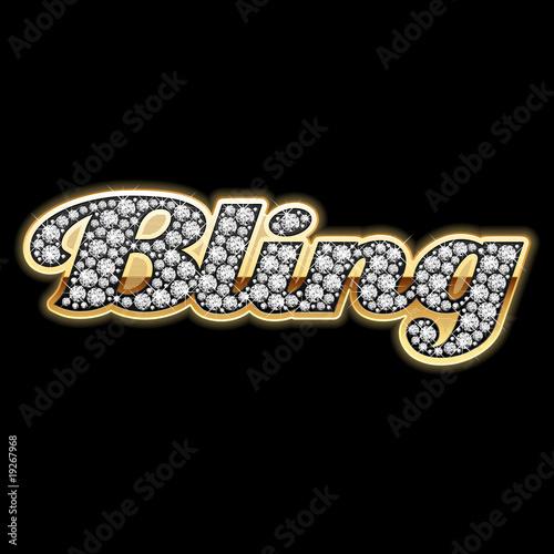 Photo Bling-bling. Diamonds. Vector.