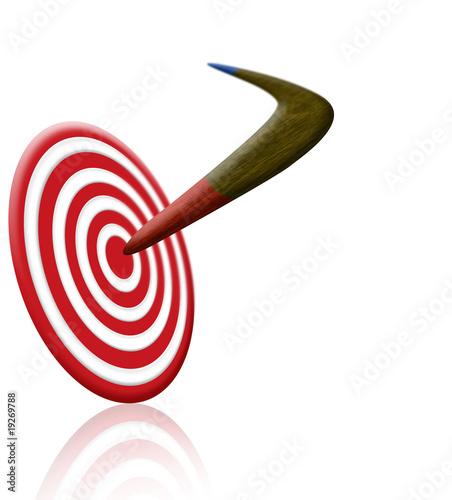 Photo boomerang and target
