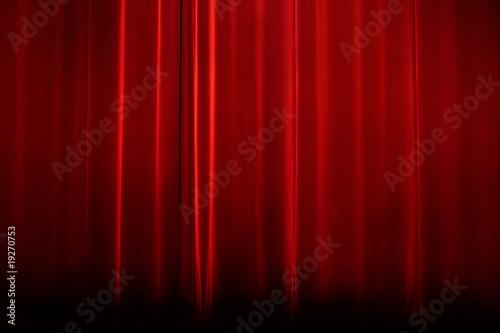 Photo  rideau scène bleu velour spectacle cabaret salle artiste musique