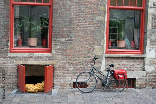 Türaufkleber Fahrrad BRUGGE