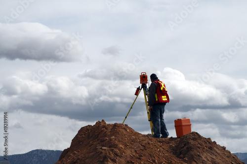 Fotografie, Obraz  Surveying on a Construction Site