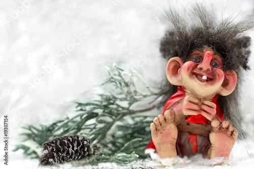 Laughting norvegian troll