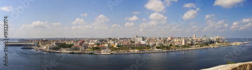 fototapeta na ścianę Panoramic view of havana waterfront