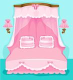 Fototapeta Dla Dziewczynek kreskówka antyczny różowy