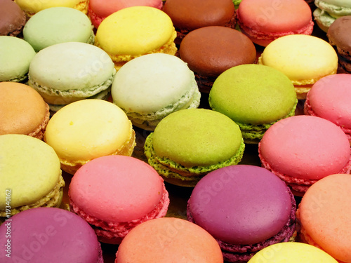 Photographie  assortiment de macarons