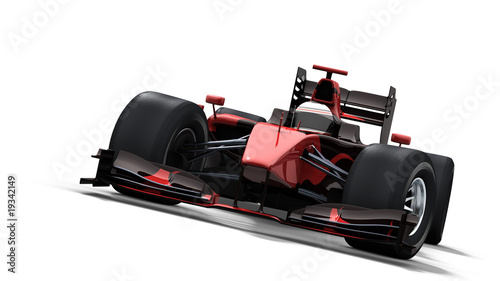 Türaufkleber Schnelle Autos race car on white - black & red