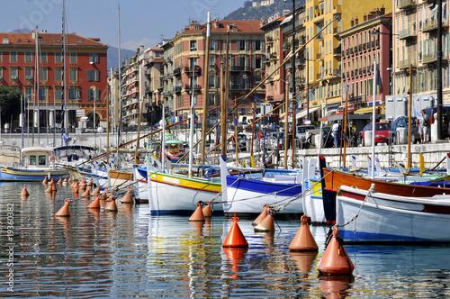 Poster Nice Port de Nice en France dans les Alpes Maritimes