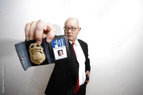 Photo  FBI agent with badge