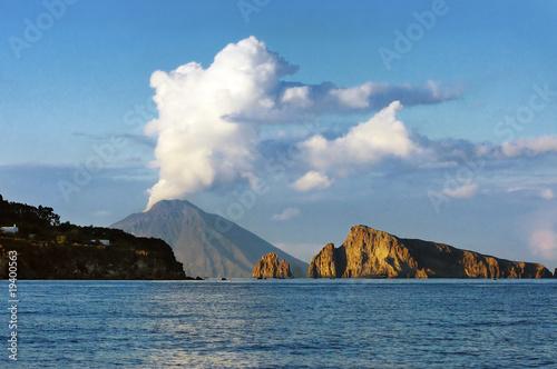 Spoed Foto op Canvas Eiland Stromboli island