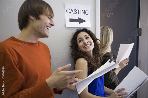 Fotografia, Obraz  Three People at Casting Call