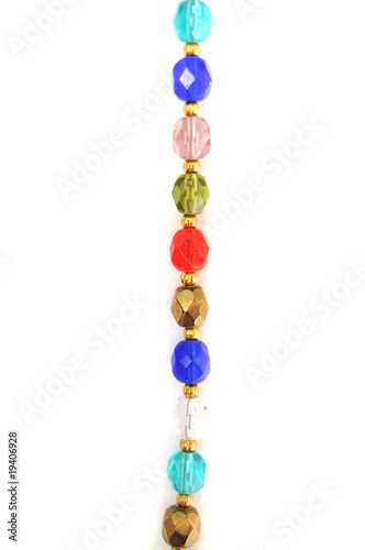 Photo  Colorful crystal necklace background