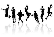 Basketball Players Vector Illu...