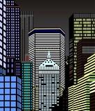 Fototapeta Nowy Jork - Nowy Jork nocą