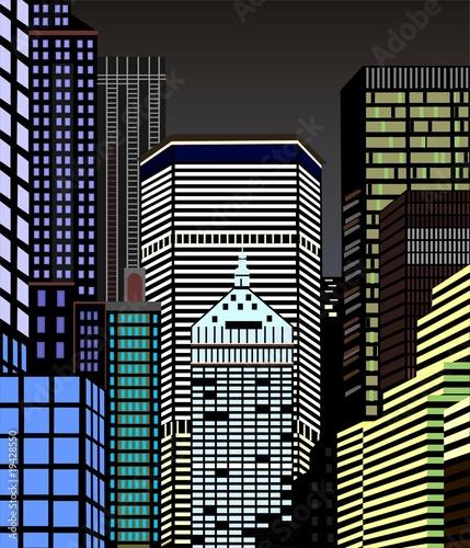 Fototapeta Nowy Jork nocą obraz