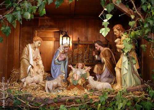 Fotografie, Obraz  Crèche de Noël