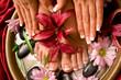 Leinwandbild Motiv Manicure and pedicure