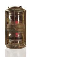 Antique Ship Lantern In Copper