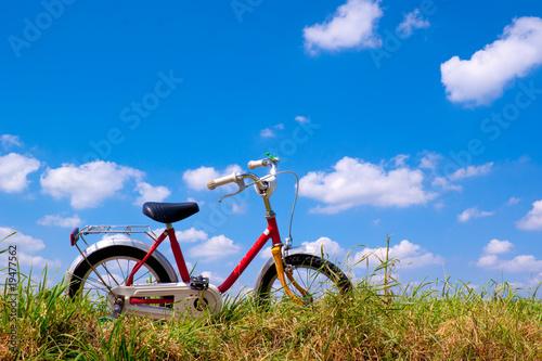 Rower w chmurach