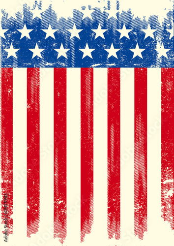 American grunge flag Canvas-taulu