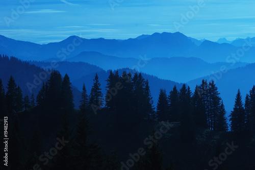 Aluminium Prints Blue sky Bayern