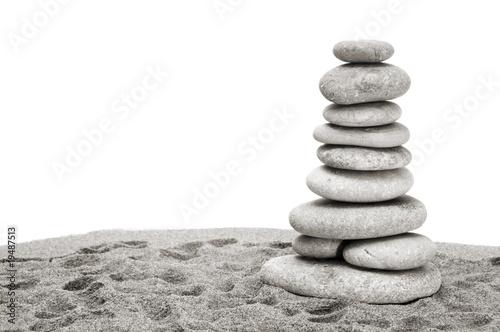 Photo sur Plexiglas Zen pierres a sable zen background