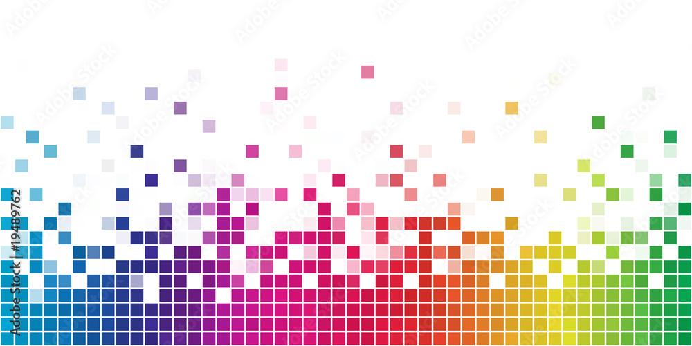 Fototapeta Colorful rainbow square mosaic.