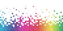 Colorful Rainbow Square Mosaic.