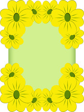 Yellow Flowers Frame