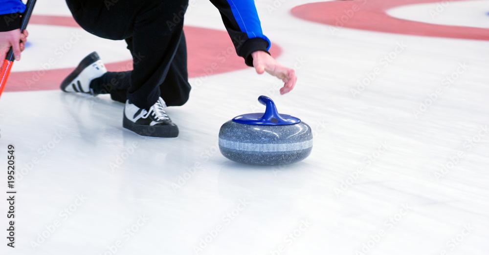 Fototapeta Curling