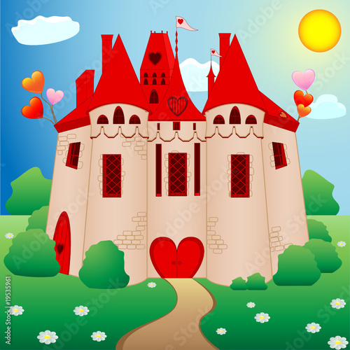 Poster Castle Fairy tale princess castle