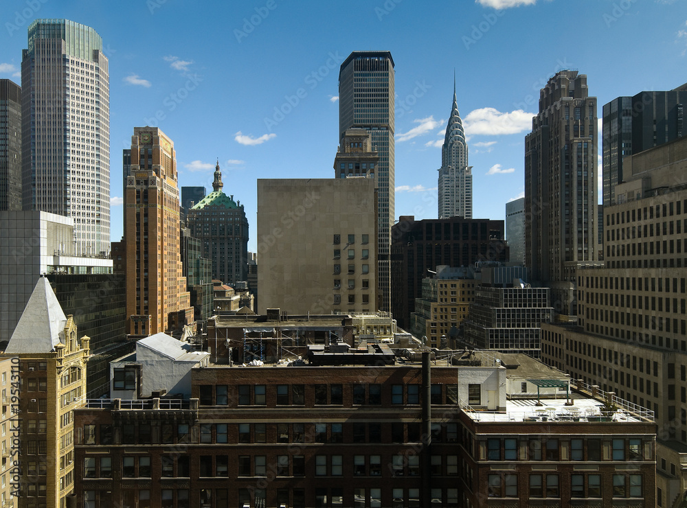 Fototapety, obrazy: Midtown Manhattan roofscape