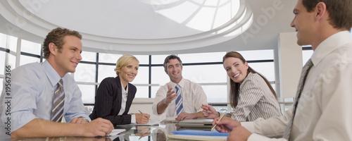 Photo  Business people having meeting