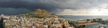Alicante Panoramic Before Storm