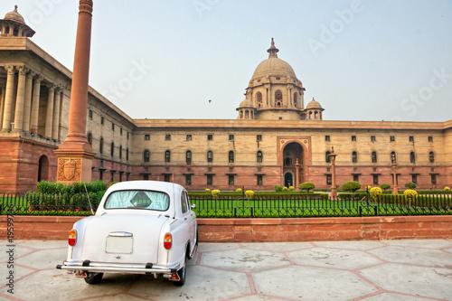 Stickers pour porte Delhi Rashtrapati Bhavan . Large imperial building in New Delhi. .