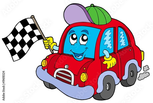 Canvas Prints Cars Car race starter