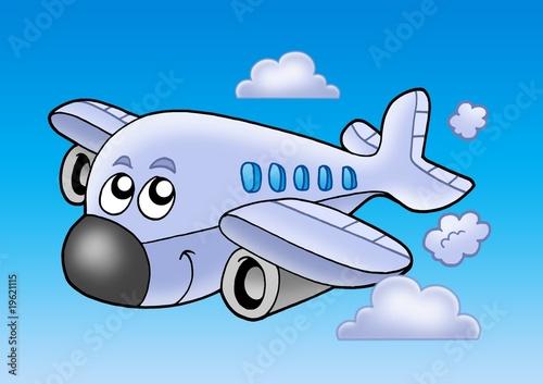 Obraz premium Ładny latający samolot