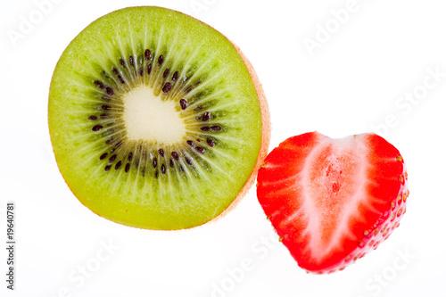 Printed kitchen splashbacks Fresh vegetables Kiwi and strawberry.