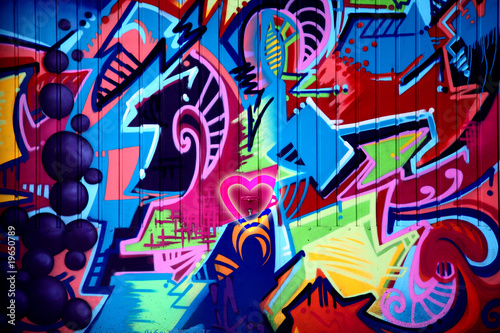 La pose en embrasure Graffiti kunst