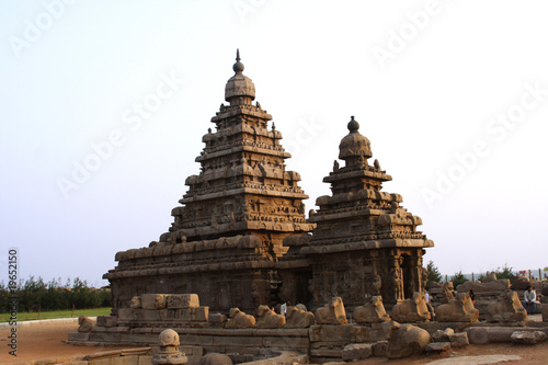Fotobehang Temple Mamallapuram, Famous shore temple,India