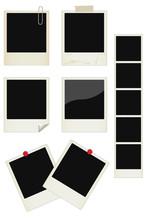 Vector Photo Instant Frames Set