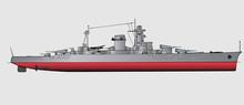 Vector Illustration Of Battleship
