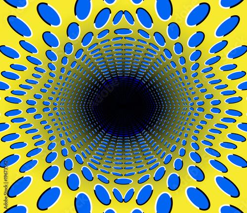 Fototapeta premium czarna dziura. złudzenie optyczne.