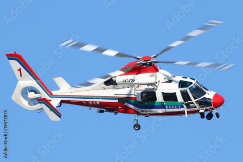 Staande foto Helicopter 埼玉県 防災ヘリコプター