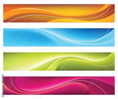 Fototapeta Four colorful banners obraz