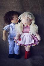 Couple Of Rag Dolls In Checker...