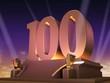 Leinwanddruck Bild - Goldene 100 - Filmstyle